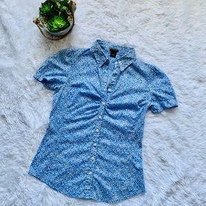 Ann Taylor floral print button down shirt